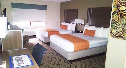 newly renovated rooms - chico ca hotel